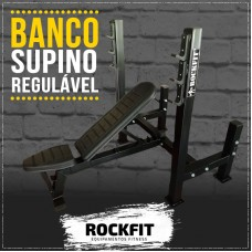 BANCO SUPINO REGULÁVEL - ROCKFIT