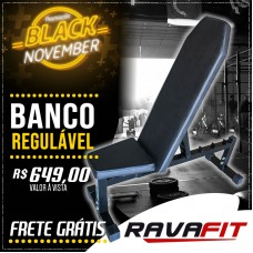 BANCO REGULÁVEL RAVAFIT - BLACK NOVEMBER - BLACK FRIDAY